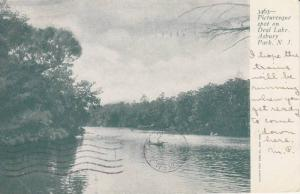 Scenic View, Men Canoeing on Deal Lake, Asbury Park, New Jersey 1905