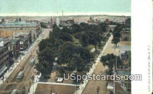 Park on Broad Street Newark NJ 1909