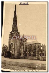 Old Postcard The Cathedral Treguier