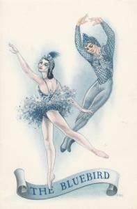 The Blue Bird Ballet Dinner Menu , SS NEVASA , 1957
