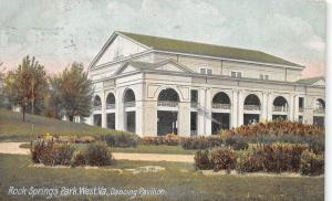C8/ Chester Rock Springs Amusement Park West Virginia WV Postcard 07 Dance Hall