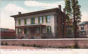 Alabama Montgomery Jefferson Davis Home White House Of The Confederacy 1908
