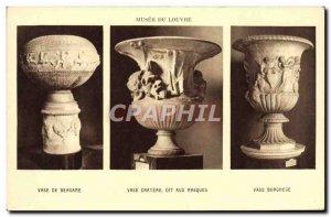 Old Postcard Paris Musee Du Louvre Vase Vase Bergamo crater Borghese