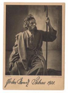Oberammergau Actor Peter Rendl St Peter Autographed 1930
