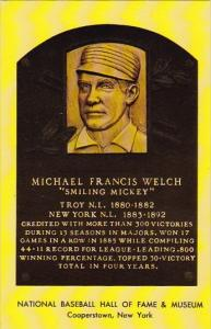 Michael Francis Welch Smiling Mickey Baseball Hall Of Fame & Museum Coopersto...
