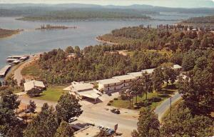 Bull Shoals Arkansas Imperial Resort Motel Birdseye View Vintage Postcard K90897
