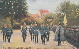 S.M. Bei Den Waisen=Kindern , Germany , 1907 ; TUCK 163 B