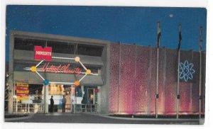 Disneyland California Monsanto Hall of Chemistry Night View Vintage 50s Postcard