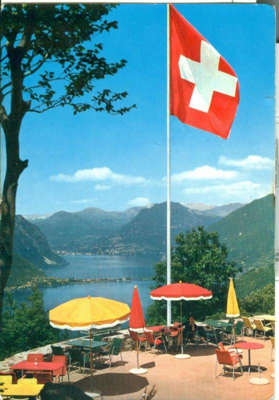 Suisse, Lago di Lugano, Panorama da Serpiano 1963 used