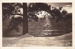 Idaho Winter Sunset Pend Oreille Lake 1943 Real Photo