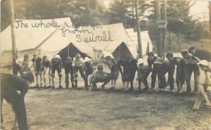 1908 West Swanzey New Hampshire Sewall Boys Summer Camp RPPC Postcard 1006