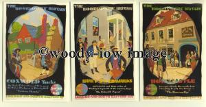 ry891 - LNER Railway Poster Adverts - 6 postcards by Dalkeith all shown
