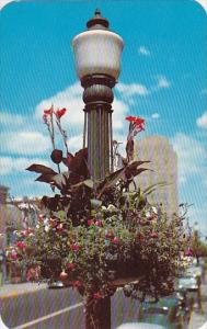 Pennsylvania Allentown Seasonal Flowers Bedeck Unique Light Standards Through...