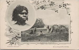 Queen of The Soil Series 29 Indigenous Woman Australia c1908 Kerry Postcard E55