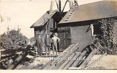 Real Photo Occupation and People Working Oil Drillers, Pennsylvania Unused