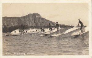 RP:  Surf Riding #2, WAIKIKI , Hawaii , 1930-40s