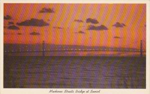 Mackinac Straits Bridge At Sunset Mackinac Island Michigan