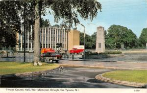 TYRONE OMAGH NORTHERN IRELAND UK~COUNTY HALL~WAR MEMORIAL POSTCARD 1972