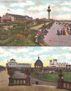 Great Yarmouth Norfolk Wellington Beach Pier Gardens Postcard Bundle