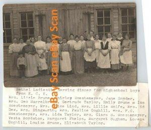 Kansas City KS RPPC Bethel Ladies Aid Identified Vintage Photo Postcard A