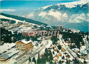 Postcard Modern Courchevel Savoie Aerial Partial view of the resort