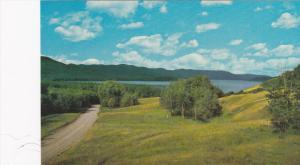 Scenic view,  Francois Lake,  Hwy 16,  B.C.,  Canada,  40-60s