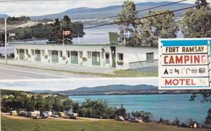 Fort Ramsay Motel & Camping, Gaspe,  Quebec,  Canada,  PU_40-60s