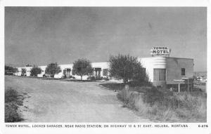 Helena Montana Tower Motel Street View Vintage Postcard K99154