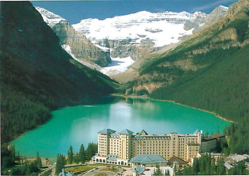 Canmore Canada Lake Louise Mt Victoria Hotel Chateau Lk Louise  Postcard  # 7043