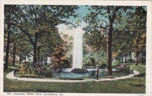 Virginia Lynchburg Fountain In Miller Park Curteich