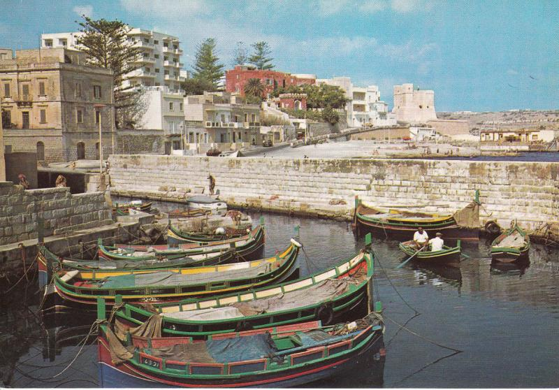 MALTA SAINT PAUL`S BAY FISHING HARBOUR