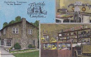 Interior & Exterior, 3-Views, Fireside Candies, in the Smokies, Gatlinburg,...