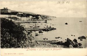 CPA LIVORNO La spiaggia di Antignano. ITALY (467819)