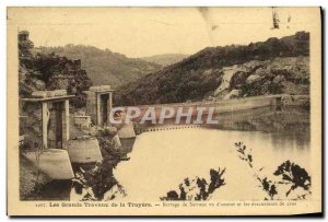 Old Postcard Electricite The great works of the dam Truyere Sarrans seen d & ...