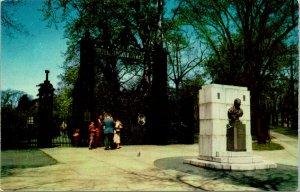 Halifax NS Canada Main Entrance to Public Gardens Postcard unused 1950s