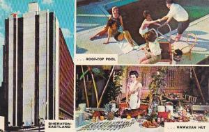 Maine Portland Sheraton Eastland Motor Hotel Roof Top Pool Hawaiian Hut Shera...
