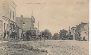 FLORENCE , Ontario , 1909 ; Main Street