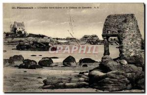 Old Postcard Ploumanach The Oratory of Saint Guirec and the Chateau de Costaeres