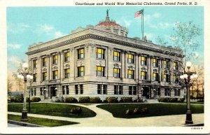 North Dakota Grand Court House and World War Memoril Clubrooms Curteich