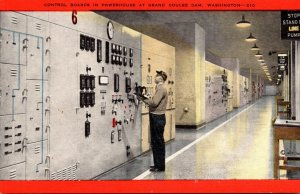 Washington Grand Coulee Dam Control Boards In Powerhouse