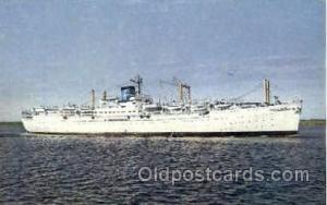 M.V. Seven Seas, Europe-Canada Line Steamer Ship Ships Old Vintage Postcard P...