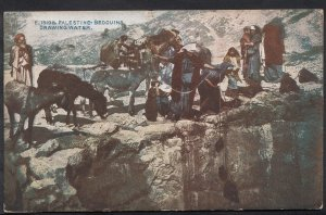 Palestine Postcard - Bedouins Drawing Water    A7104