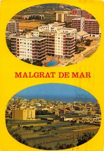 Spain Malgrat de Mar Hotel Swimming Pool Panorama Postcard