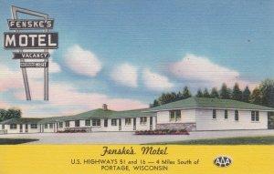 Wisconsin Portage Fenske's Motel sk2134