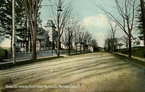 CT - Meriden.  Broad Street looking North from Myrtle Street
