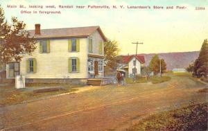Fultonville NY Main Street Post Office Lenardson's Store Dirt Street, postcard