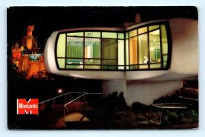 Postcard CA Anaheim Disneyland Monsanto Home of The Future R62