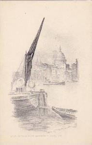 St. Pauls From Bankside, London, England, UK, 1900-1910s  Judges Ltd. Hastings