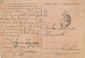 Military postal stationery postcard WW2 war correspondence Hungary