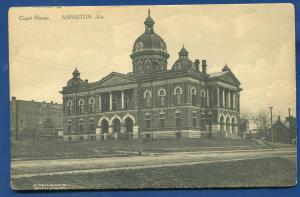 Anniston alabama Calhoun Country Court House old postcard #2